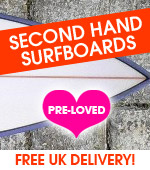 Used and second hand surfboards with free UK delivery